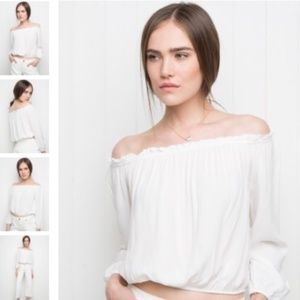 Brandy Melville Maura Off the Shoulder Top - White